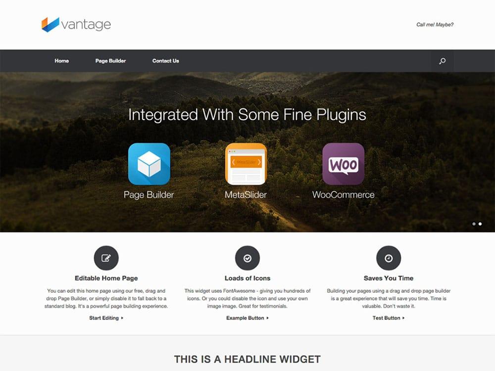 Vantage plantilla gratis de WordPress