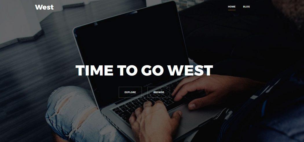 West plantillas landing pages gratis