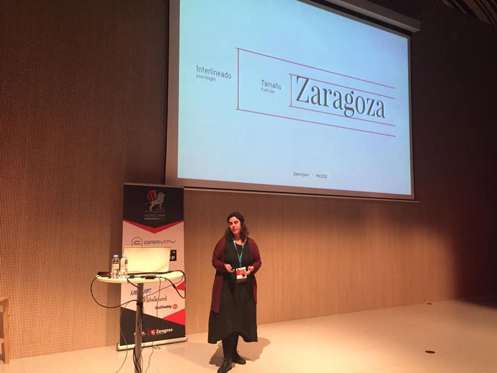 WordCamp Zaragoza 2018 Ana Cirujano