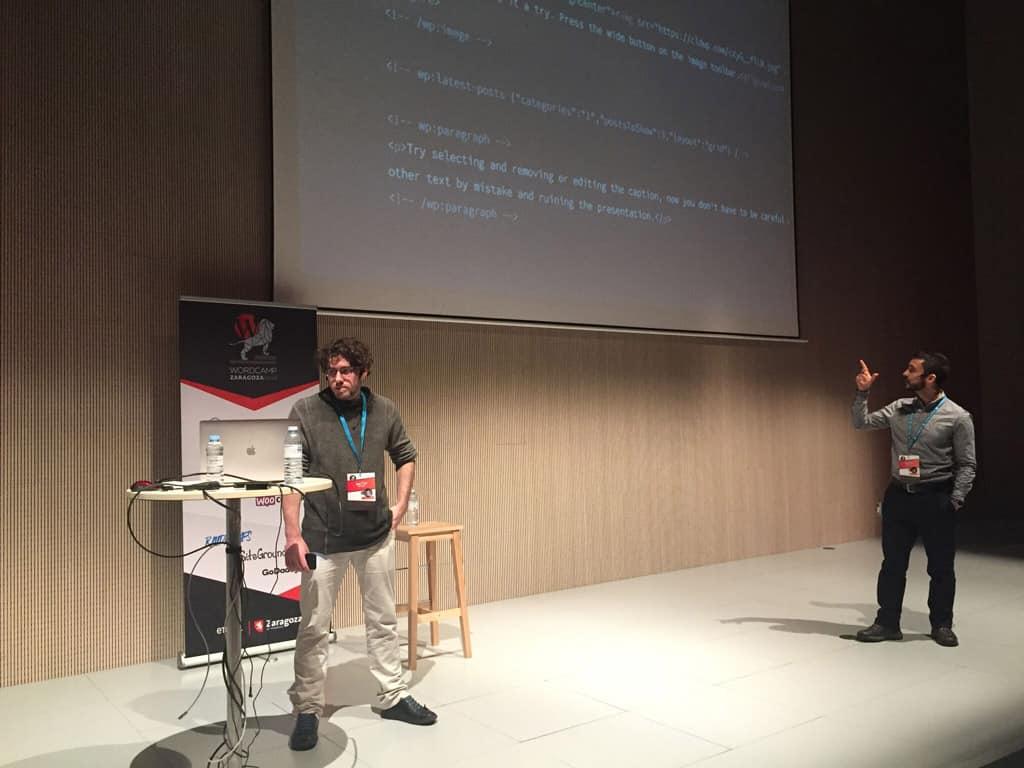 WordCamp Zaragoza 2018 Matías y Miguel