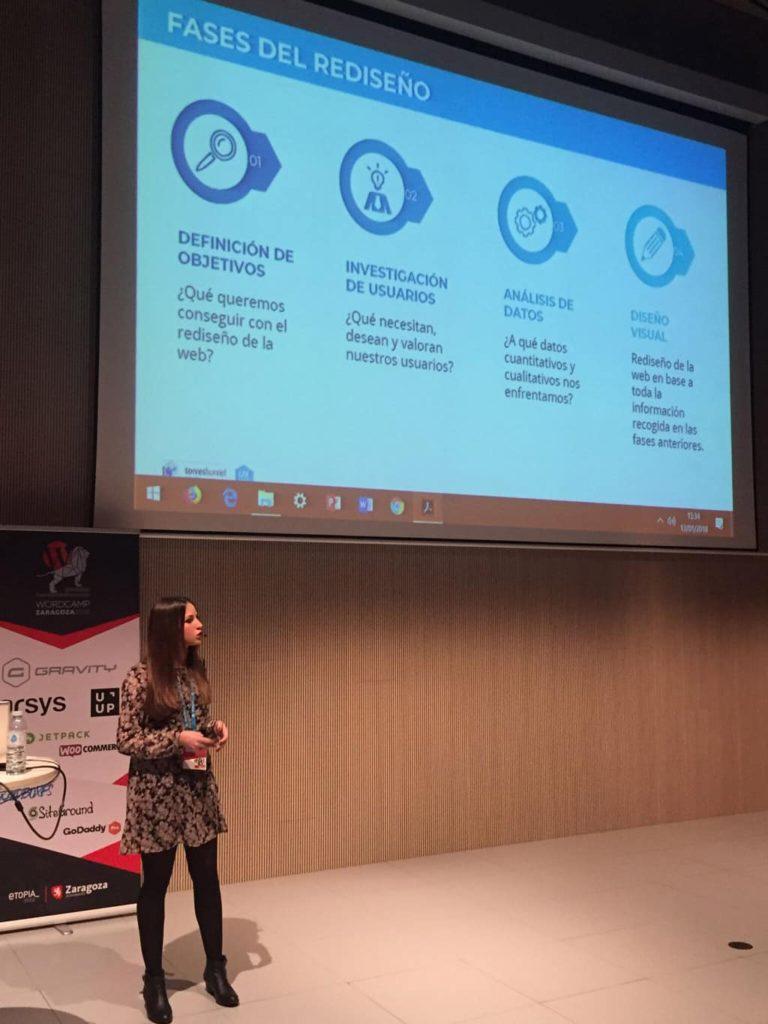 WordCamp Zaragoza 2018 Verónica